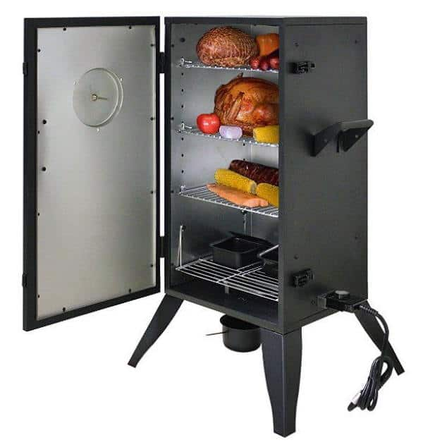 smoke hollow 30 electric smoker door open