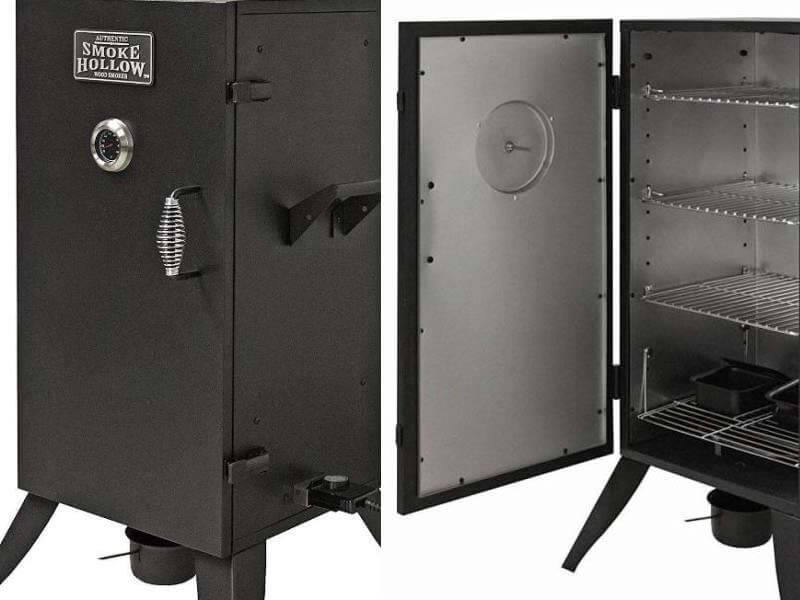 smoke hollow 30 electric smoker dual views