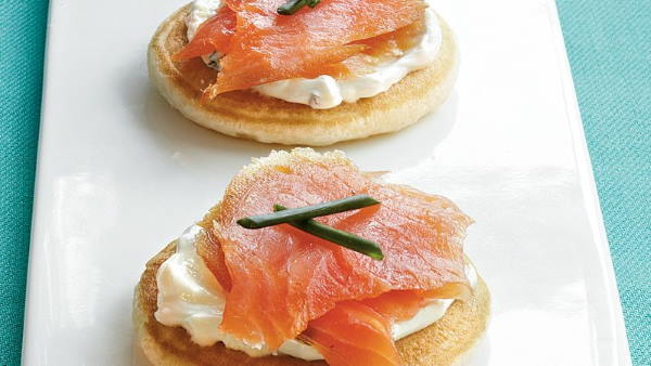 Salmon on blini